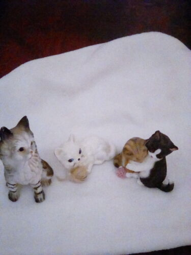 Vintage Lot of  Cat Miniature Figurines Lenox Enesco & unbranded