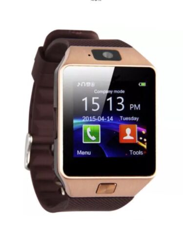 Gold DZ09 Bluetooth Smart Watch GSM SIM for iPhone Samsung lg Android Phone Mate Cell Phones & Accessories