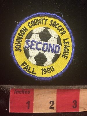 Fall 1980 Johnson County Soccer League 2nd Kansas Patch 70JJ