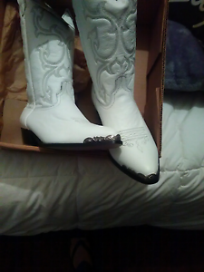 White wedding cowgirl boots Northam Northam Area Preview