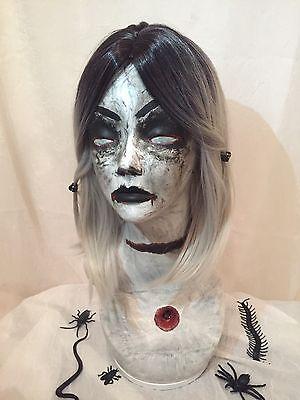 Creepy MANNEQUIN HEAD Dead Vampire Zombie LIFESIZE HALLOWEEN Haunt PROP OoaK - Halloween Mannequin Head