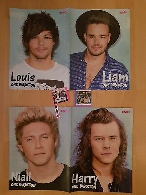 4 one direction poster +3 Sticker