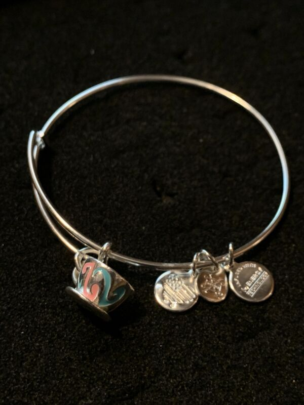 Alex and Ani Disney Bracelet Teacup ☕️ Energy Infused Technology Silver