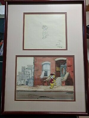 Top-Cat original production Cel with sketch, framed