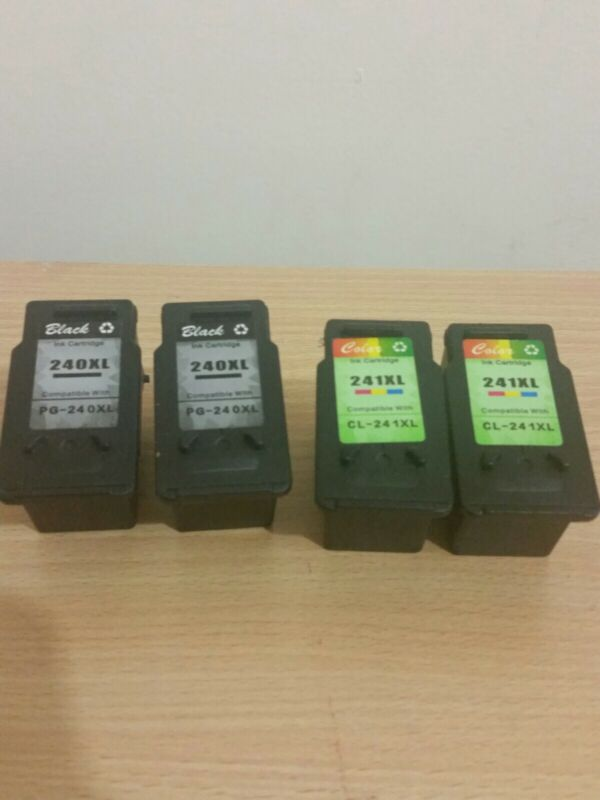 4 empty Canon Pixma remanufactured XL cartridges for new refills