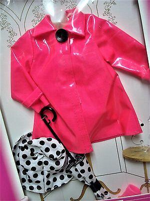 Vtg Barbie 90s Doll Clothes FASHION AVENUE Pink Raincoat Set 14980 1996 MIB