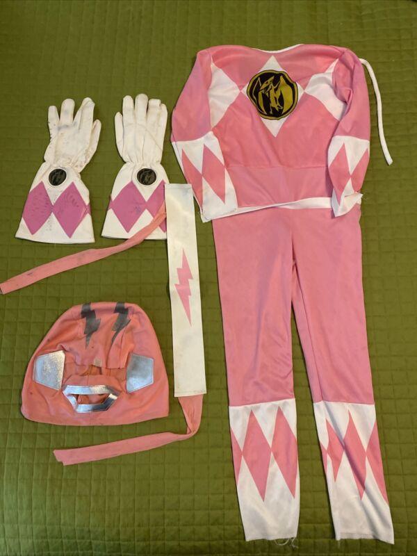 Vintage 1994 Saban Might Morphin Power Rangers Pink Ranger Gloves Costume MMPR