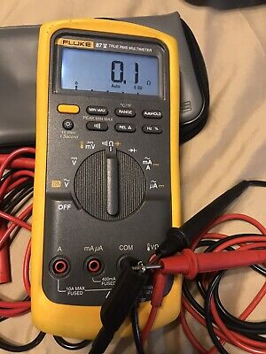 Fluke 87v Industrial Digital True Rms Multimeter Original Fluke Case Oem Leads