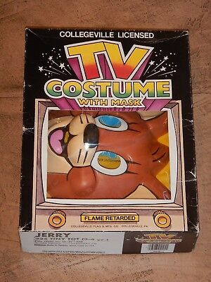 ORIGINAL 1989 COLLEGEVILLE TOM AND JERRY - JERRY HALLOWEEN COSTUME MASK, BOXED