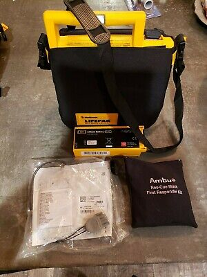 Lifepak 500 Defibrillator Aed Case With Pads And Brand New Battery