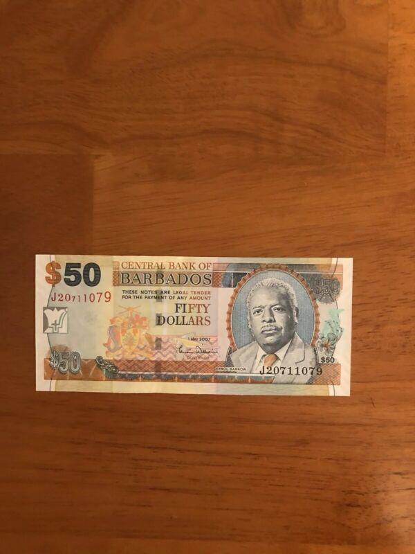 Barbados 50 Dollars 2007 P-70a> UNC