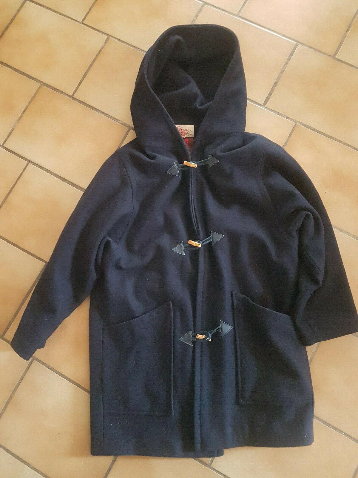 Manteau duffle coat bleu marine taille 1 etam