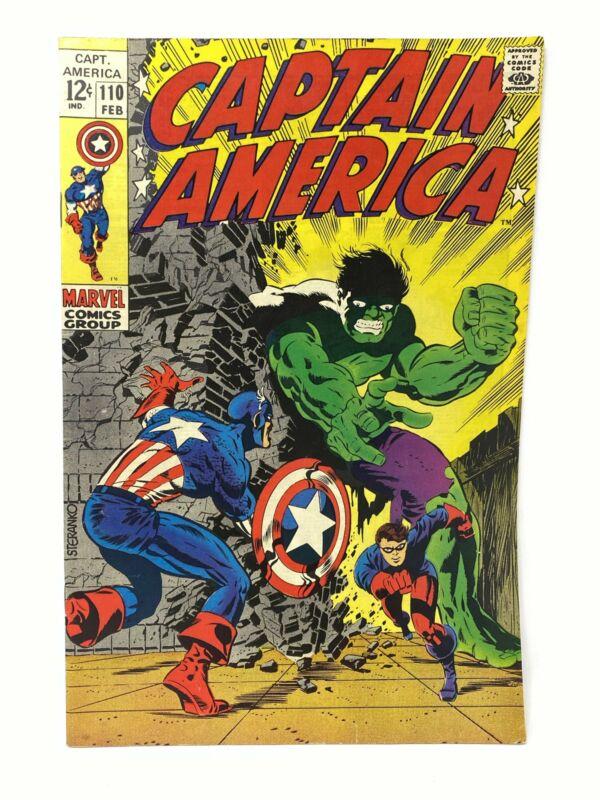 Marvel Comics Group Captain America #110 w/ The Hulk