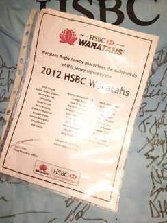 Waratahs Rugby Jersey signed