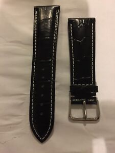 Fits Panerai 24mm  leather watch band