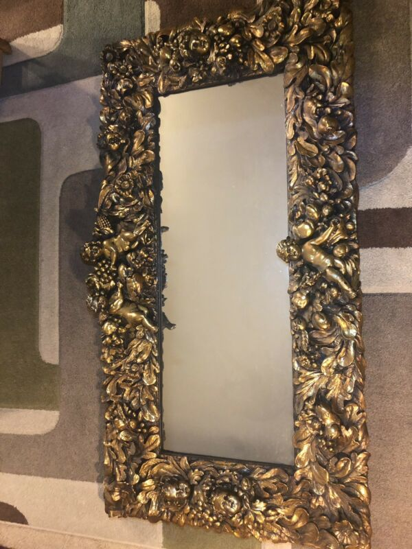"Antique Gold Gilt Mirror ""finesse Original 72"""