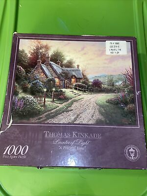 Thomas Kincaid painter of light a peaceful time thousand piece puzzle