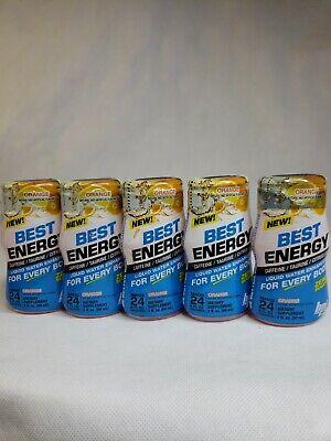 Best Energy Liquid Water Enhancers Orange 2 oz Servings 5 Pack Orange