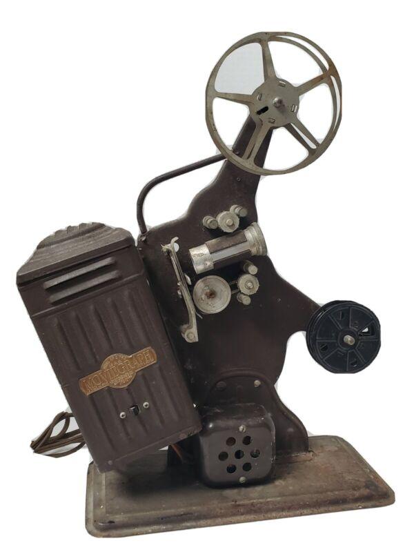 VINTAGE KEYSTONE 16MM FILM MOVIE PROJECTOR ANTIQUE COLLECTIBLE INDUSTRIAL DECOR