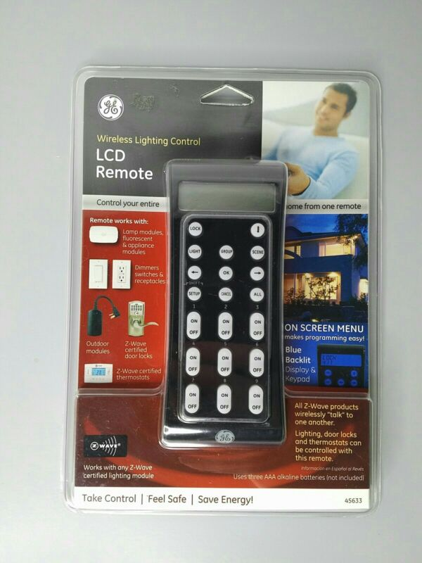 NEW GE Wireless Lighting Control LCD Remote # 45633 Z-Wave Brand New Sealed!