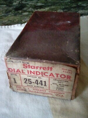Antique Starrett Dial Indicator In Original Box 25-441. .001 -1.000