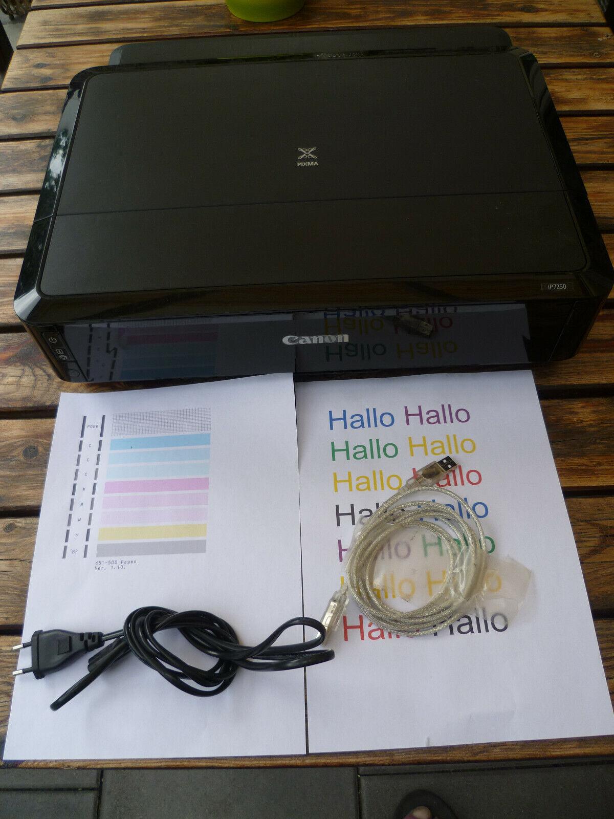 Canon Pixma iP7250 A4 Farb Tintenstrahldrucker WLAN USB Drucker Einwandfrei