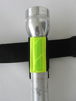 Ems Emt Paramedic Police Rescue Lime Reflective D Cell Flashlight Holster