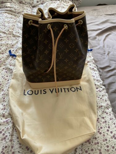 Louis Vuitton Monogram Large Noe Drawstring Shoulder Bag M42224 Bucket Bag