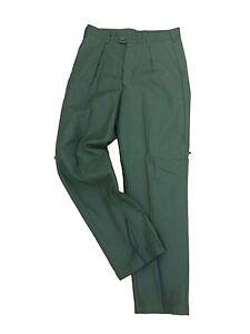 Vintage-Swedish-Dress-Trouser-twill-gabardine-Olive-3-pocket-trouser