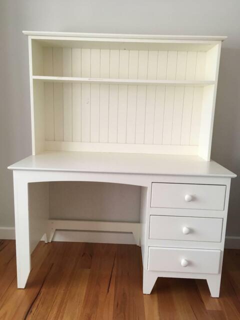 White writing desk with hutch or top bureau | Desks | Gumtree Australia Whitehorse Area - Mont ...