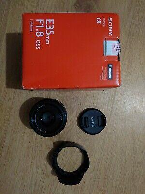 Sony SEL35F18 E Mount APS-C 35 mm F1.8 Prime Lens RRP £389
