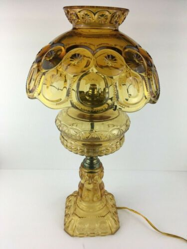 LG Wright Amber Moon and Stars Lamp Vintage
