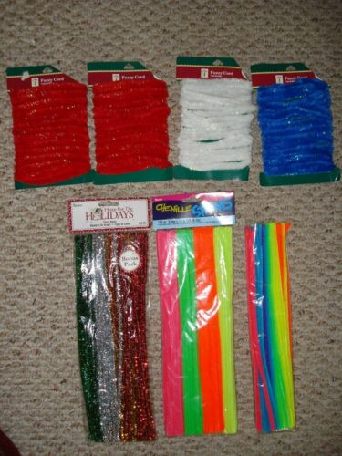 Craft Supplies 200+ Chenille Stems, Pipe Cleaners, Neon Colors & Tinsel Stems
