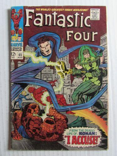 Fantastic Four #65 (1967) 1st Ronan the Accuser G/VG 3.0 EA718