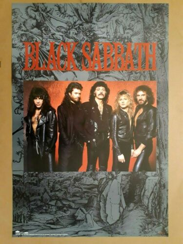 Black Sabbath Original Winterland Productions 1986 Poster
