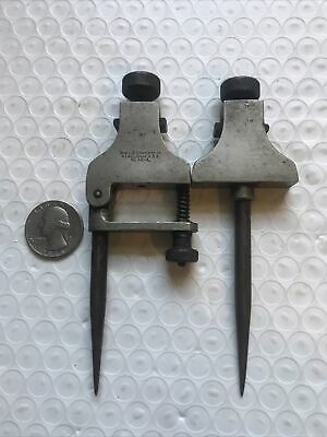 Vintage Starrett No 50-a Set Of 2 Adjustable Trammel Points U.s.a. Made