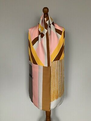 Pierre-Louis Mascia pure Silk scarf wrap 100% authentic original 200x34cm Defect