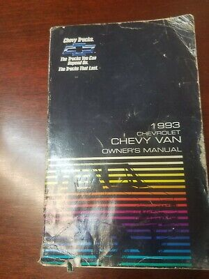 1993 Chevy Van (FULL SIZE VAN) Owners manual GUIDE BOOK WITH FREE SHIPPING