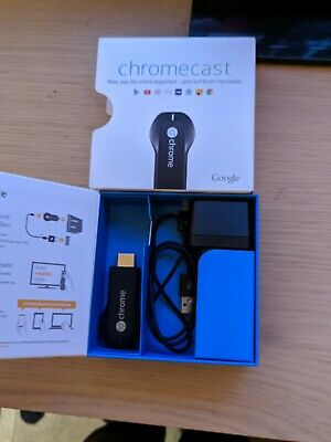 Google Chromecast Digital HD Media Streamer HDMI Black Used
