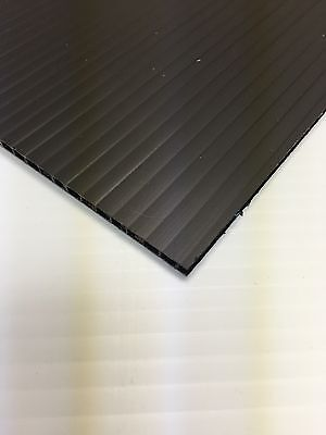 4mm Black 24 X 36 4 Pack Corrugated Plastic Coroplast Sheets Sign