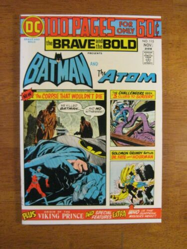 BRAVE & BOLD #115 Batman+ 100 Pgs! (NM-/9.0) Colorful Stunner! Perfect Spine!