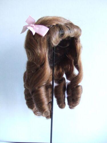PERRUQUE 100% cheveux naturels T4 (24 cm) pour POUPEE ANCIENNE-DOLL WIGS- Léa