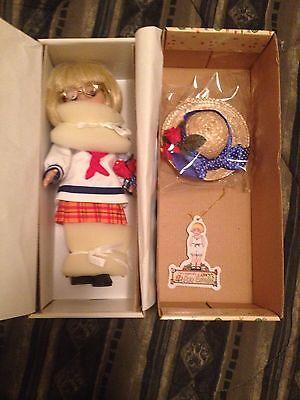 "Tonner Ann Estelle Mary Engelbreit 10"" Classic sailor Doll W/hat Glasses Flowers"