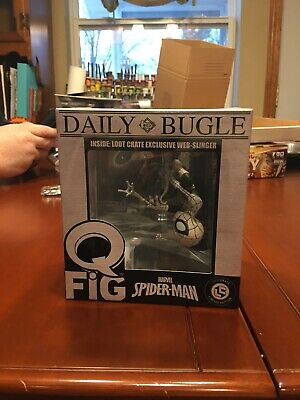 Marvel - Q-Fig - Daily Bugle Spiderman Web Slinger  - Loot Crate Exclusive