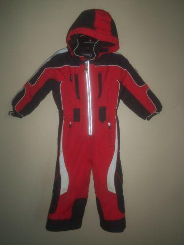 OBERMEYER OBX RED BLACK I-GROW HOODED 1 ONE PIECE SNOW SKI SNOWSUIT PRESCHOOL 3