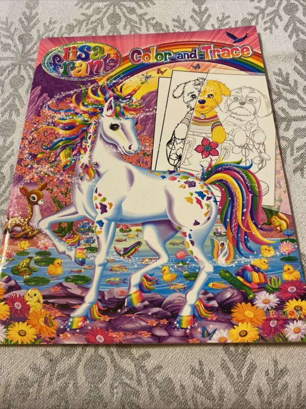 Lisa Frank Color and Trace Coloring Activity Book