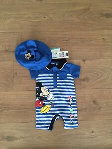 *NEW* Micky Mouse 00 short sleeve romper w hat Newcastle East Newcastle Area Preview