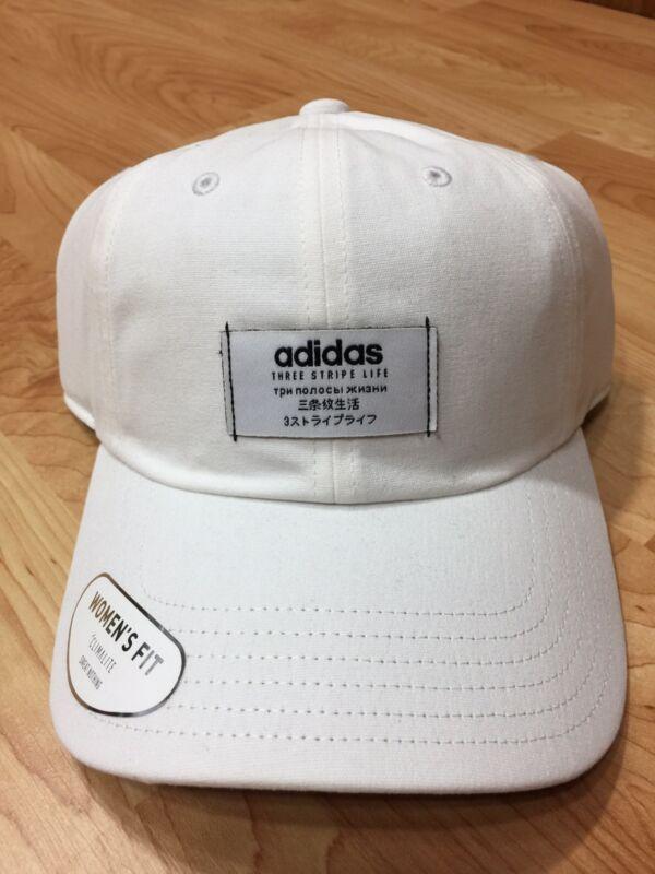 New Women s Adidas Impulse White Black Strapback Cap OSFA  96cef278db4