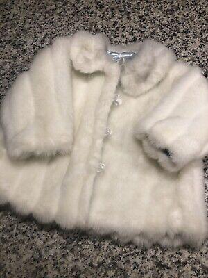 Cruella Deville Fur Coat (Toddler Girl 2t White Faux Fur Winter Coat Katie & Co Cruella DeVille)