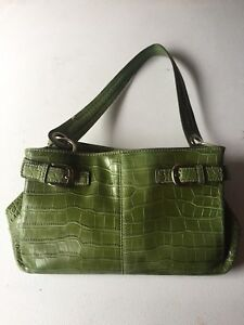 Tommy Hilfiger faux leather olive green purse/handbag